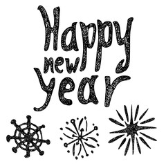 Happy new year - template for greeting card