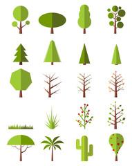 Flat trees set