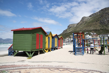 Children's playground on the beach at Muizenberg near Cape Town S Africa
