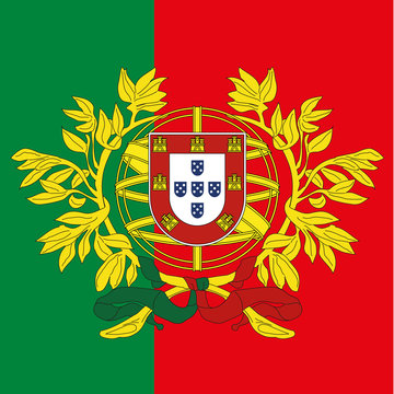 portugal coat of arm and flag