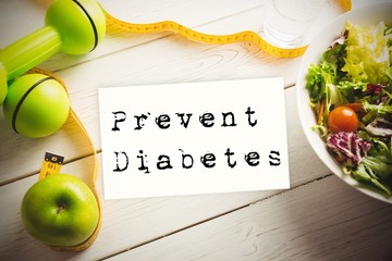 Composite image of prevent diabetes