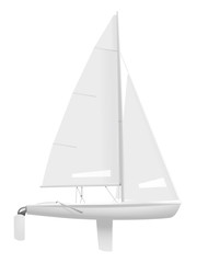 Sailing dinghy. (Side view)