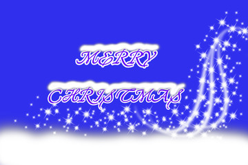 Vertical blue digital background with white snowflakes and motion effect