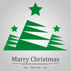 Christmas background fir and the words holiday