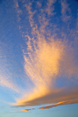sunrise in the colored sky white