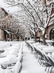 Valldemossa - Dorfstraße im Winter