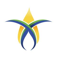 Nature Oil Gas Corporate Logo Template