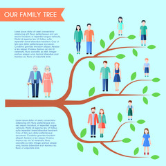 Flat Family Tree Poster
