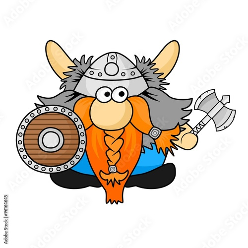 Funny Viking Cartoon Illustration Stock Image And Royalty Free