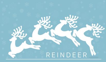 vector reindeer in winter