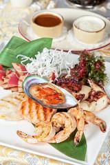 seafood mix dish