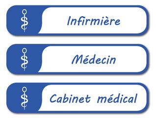 Panneau cabinet médical.