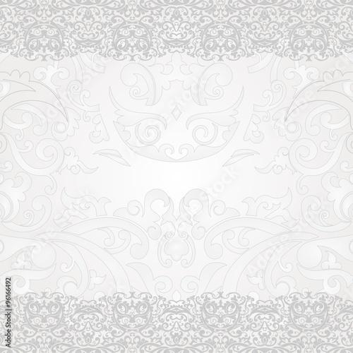 """Silver And White Batik Swirl Floral Yogyakarta"" Stock"