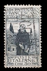 francobollo commemorativo italiano usato