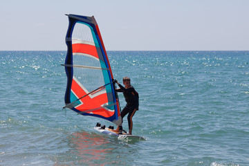Little windsurfer
