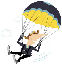 Comic skydiver derives enjoyment from jumping