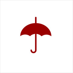 Colored umbrella flat vector icon