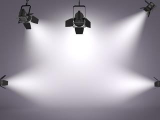 studio and spotlights