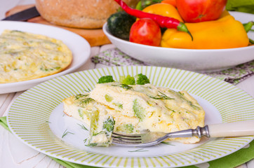omelet with cheese and broccoli
