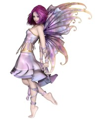 Pretty Purple Fairy - fantasy illustration