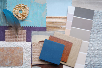 interior color design selection concept