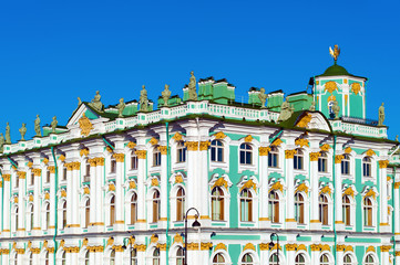 Winter Palace, close-up, St Petersburg, Russia