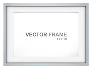 Frame. Vector Picture Frame made of steel. Copy Space.