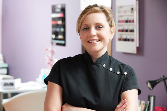 Portrait Of Beautician In Salon