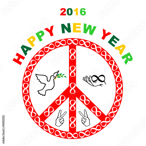 Happy new year greeting cardmail to celebrate the new year peace happy new year greeting cardmail to celebrate the new year peace card m4hsunfo