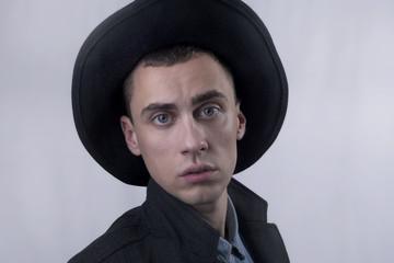 Fashion man wearing a hat