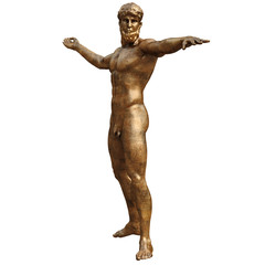 Golden statue of man