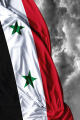 Syria waving flag on a bad day
