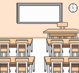 Classroom Doodle Illustration cartoon