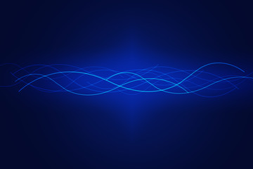 Abstract network concept on blue background
