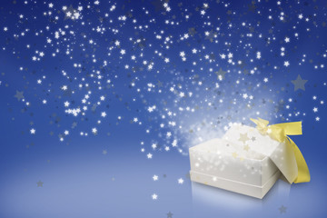 Blue theme greeting seasons star box