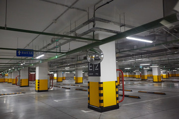 underground parking in trade centre