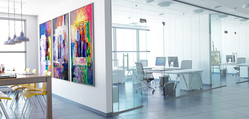 Office Conception (panoramic) Wall mural