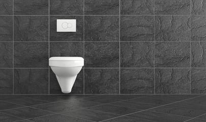 white clean toilette