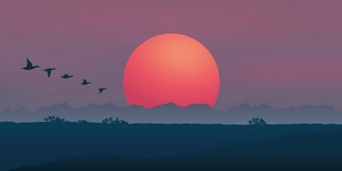Paysage Soleil levant