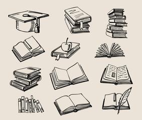 Books stack sketch