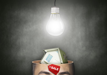 House cut in his head, thought the concept of sales