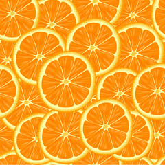 Seamless pattern with slices of orange.