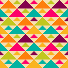 Bright retro seamless pattern.