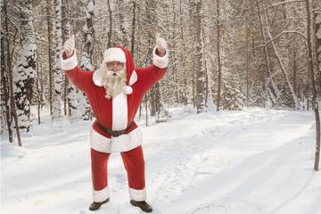 Santa Claus in a good mood