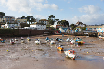 Wall Mural - Paignton harbour Devon England with boats near Torquay