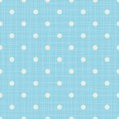 Seamless blue background with lines and polka dots