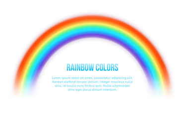 Wall Mural - Vector rainbow on white background