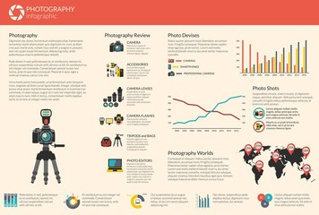 Photography vector infographic