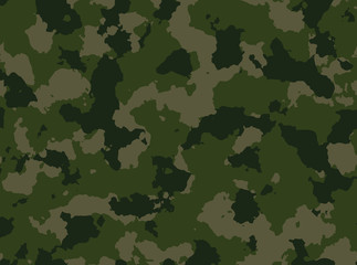 Seamless woodland camo pattern vector.