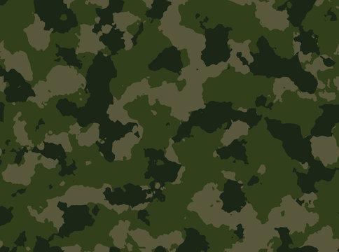 Seamless woodland camo pattern vector.